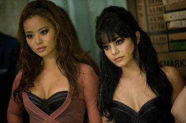 Jamie Chung as Amber and Vanessa Hudgens as Blondie in &quot;Sucker Punch.&quot;